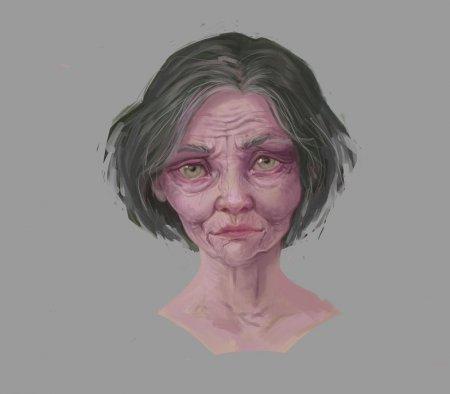 Как рисовать стареющее лицо